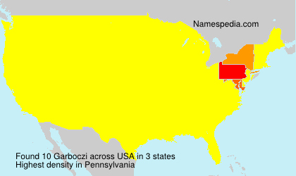 Surname Garboczi in USA