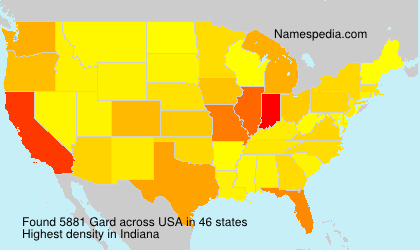 Surname Gard in USA
