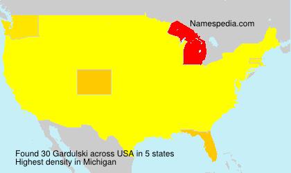 Surname Gardulski in USA