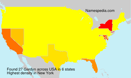 Surname Gardyn in USA