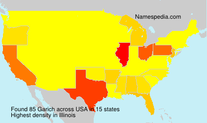 Surname Garich in USA