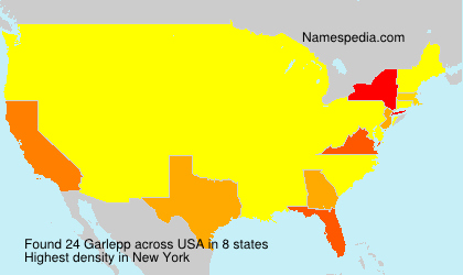 Surname Garlepp in USA