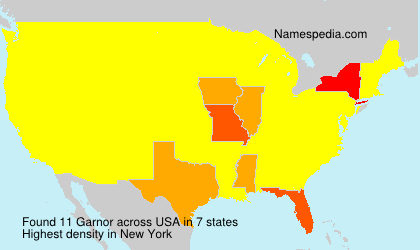 Surname Garnor in USA