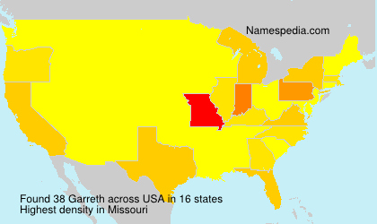 Surname Garreth in USA