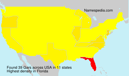 Surname Gars in USA