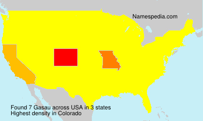 Surname Gasau in USA