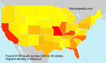 Surname Gash in USA