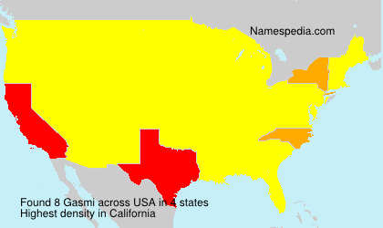 Surname Gasmi in USA
