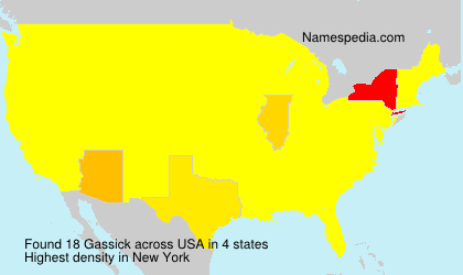 Surname Gassick in USA
