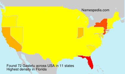 Surname Gastelu in USA