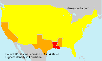 Surname Gastinel in USA