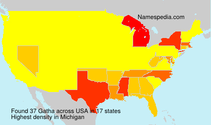 Surname Gatha in USA