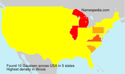 Surname Gaudaen in USA