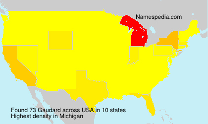 Surname Gaudard in USA