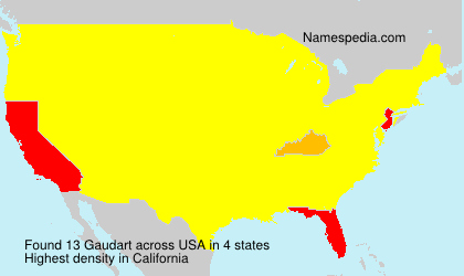 Surname Gaudart in USA