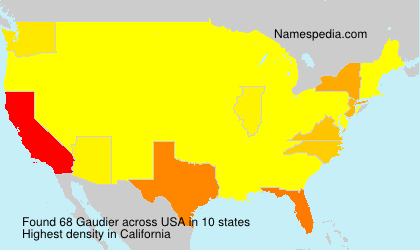 Surname Gaudier in USA