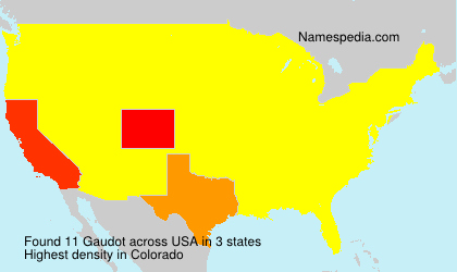 Surname Gaudot in USA