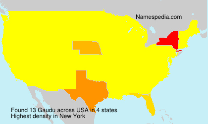 Surname Gaudu in USA