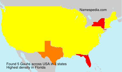 Surname Gauhs in USA