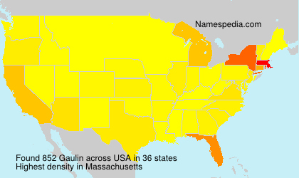 Surname Gaulin in USA