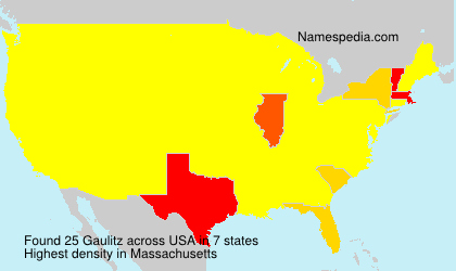 Surname Gaulitz in USA