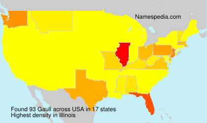 Surname Gaull in USA