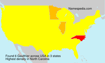 Surname Gaulthier in USA
