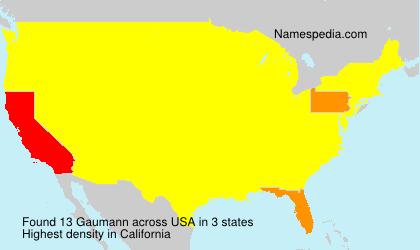 Surname Gaumann in USA
