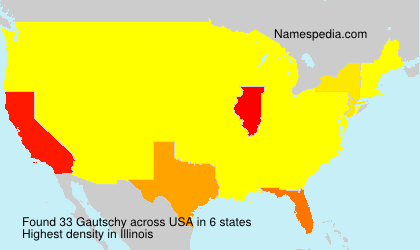 Surname Gautschy in USA