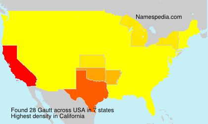 Surname Gautt in USA