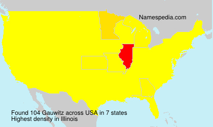 Surname Gauwitz in USA