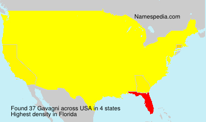 Surname Gavagni in USA