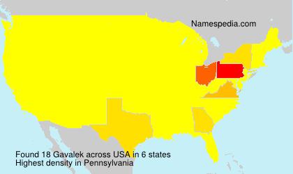 Surname Gavalek in USA