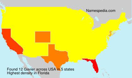 Surname Gavier in USA