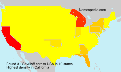 Surname Gavriloff in USA