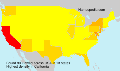 Surname Gawad in USA