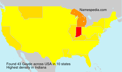 Surname Gayde in USA