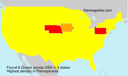 Surname Gayee in USA