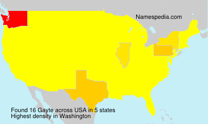 Surname Gayte in USA