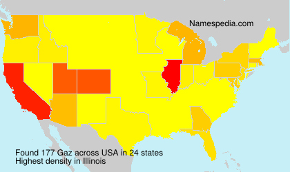 Surname Gaz in USA