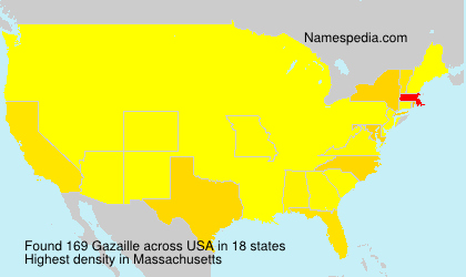 Surname Gazaille in USA