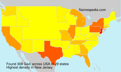 Surname Gazi in USA