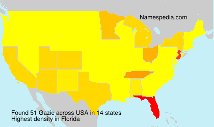 Surname Gazic in USA