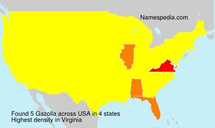 Surname Gazolla in USA