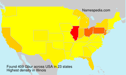 Familiennamen Gbur - USA