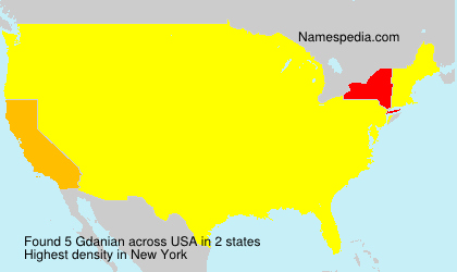 Surname Gdanian in USA
