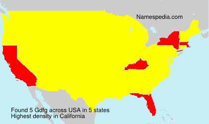 Surname Gdfg in USA