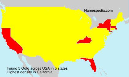 Surname Gdfg in USA
