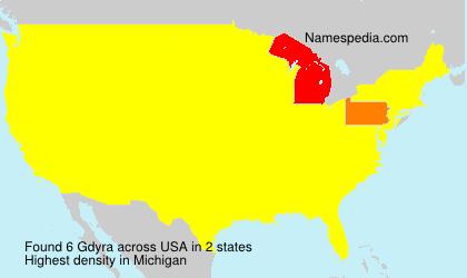 Surname Gdyra in USA