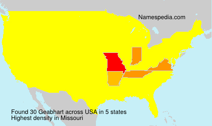 Surname Geabhart in USA